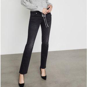 BCBGMAXAZRIA Distressed Black Jeans Size 27